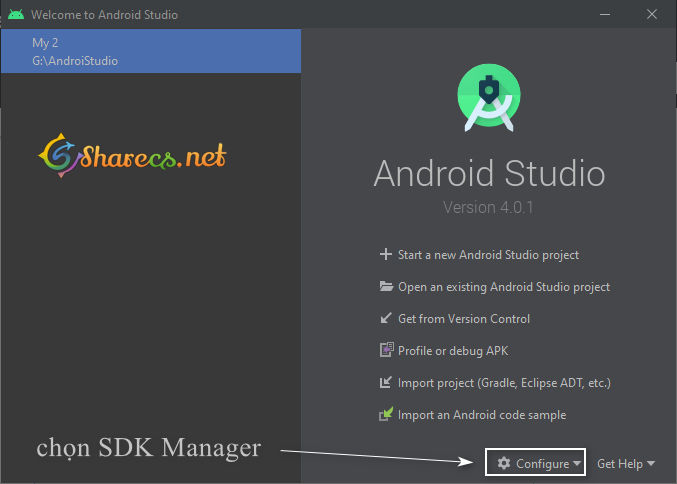 cai SDK Manager Android Studio